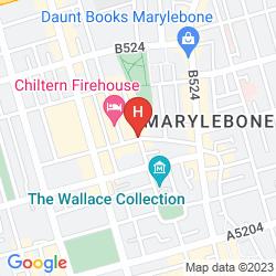 Mappa TEN MANCHESTER STREET HOTEL