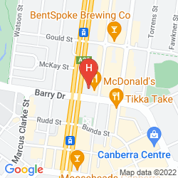 Mappa ADINA APARTMENT HOTEL CANBERRA, JAMES COURT