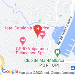 Mappa APARTAMENTOS AUGUSTA