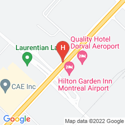 Mappa QUALITY HOTEL DORVAL
