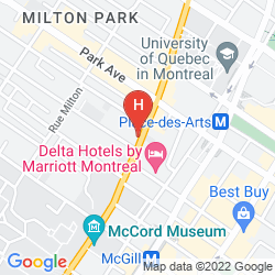 Mappa FOUR POINTS BY SHERATON MONTREAL CENTRE VILLE