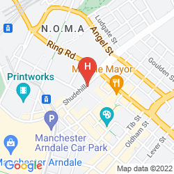 Mappa CROWNE PLAZA MANCHESTER CITY CENTRE