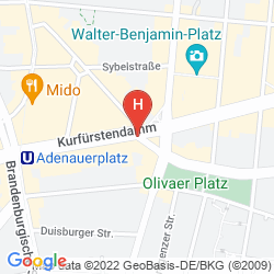 Mappa COME INN BERLIN KURFURSTENDAMM OPERA