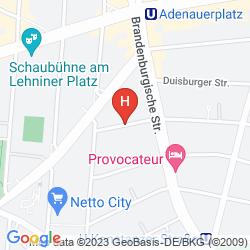 Mappa NOVUM HOTEL LICHTBURG BERLIN AM KURFURSTENDAMM
