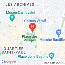 Mappa pavillon de la reine parigi for Hotel zona marais parigi