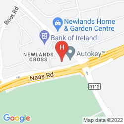 Mappa BEWLEYS HOTEL NEWLANDS CROSS