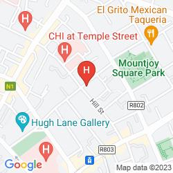 Mappa CLIFDEN HOUSE HOTEL DUBLIN