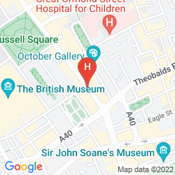 Map DOUBLETREE BY HILTON HOTEL LONDON - WEST END