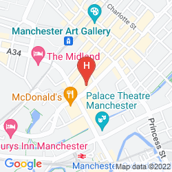Map PREMIER INN MANCHESTER CITY CENTRE (PORTLAND STREET)