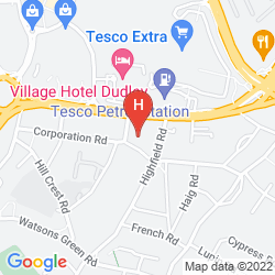Map QUALITY HOTEL DUDLEY