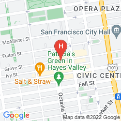 Map DAYS INN SAN FRANCISCO DOWNTOWN-CIVIC CENTER AREA