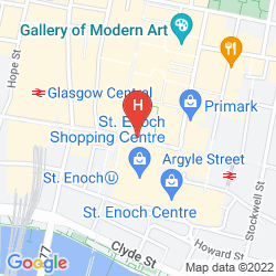 Map RADISSON BLU GLASGOW