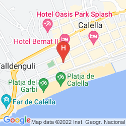 Map BEST WESTERN LES PALMERES