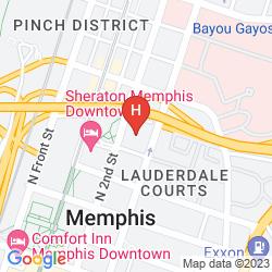 Map CROWNE PLAZA MEMPHIS