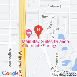 Map CANDLEWOOD SUITES ORLANDO