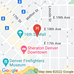 Map COMFORT INN DOWNTOWN DENVER