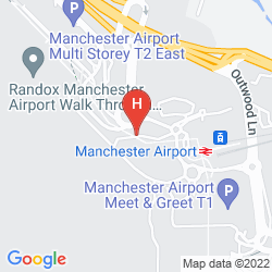 Map RADISSON BLU HOTEL MANCHESTER AIRPORT