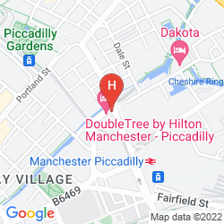 Map DOUBLETREE BY HILTON HOTEL MANCHESTER - PICCADILLY