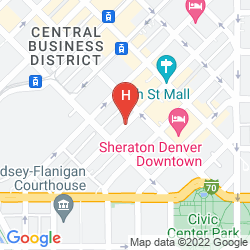 Map CROWNE PLAZA DENVER