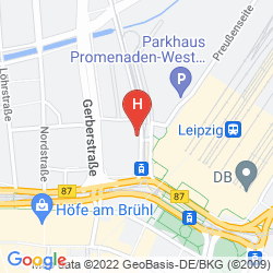 Map BEST WESTERN HOTEL LEIPZIG CITY CENTRE