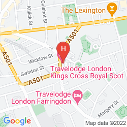 Map TRAVELODGE LONDON KINGS CROSS ROYAL SCOT