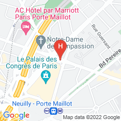 Map HYATT REGENCY PARIS ETOILE