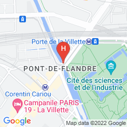 Map ADAGIO ACCESS PARIS LA VILLETTE