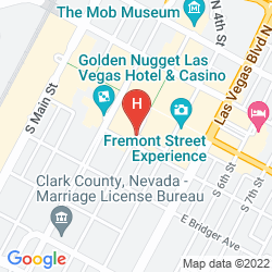 Map FITZGERALDS LAS VEGAS CASINO AND HOTEL