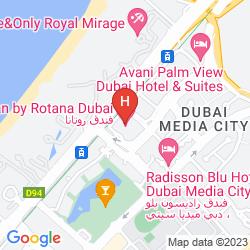 Arjaan Rotana Media City Location Map