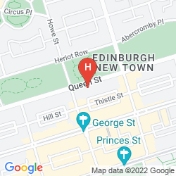 Map BLUE RAINBOW APARTHOTEL EDINBURGH ROYAL GARDEN